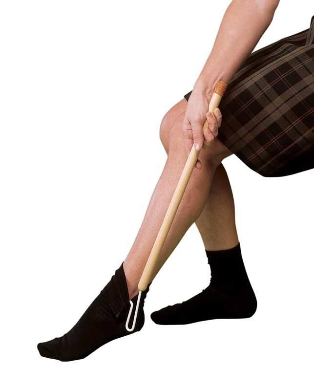 Sock applicator aid